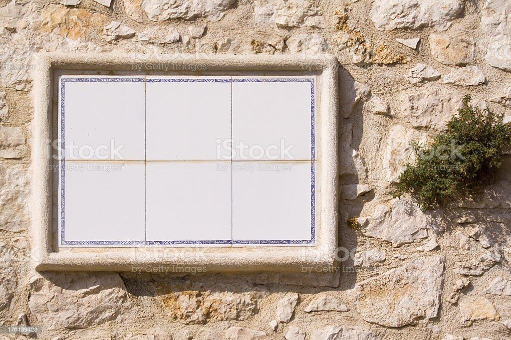 Blank Ceramic Wall Plaque stock photo