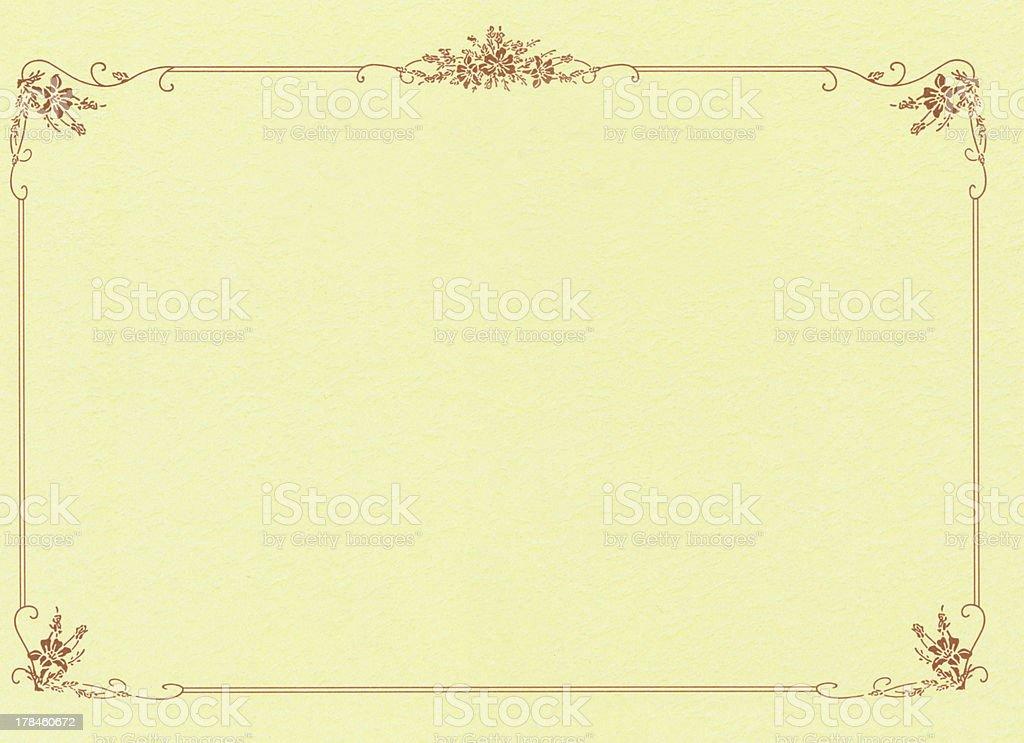 Blank certificate of merit royalty-free stock photo