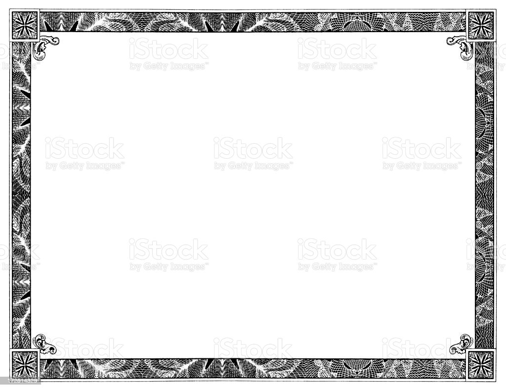 Blank Certificate stock photo