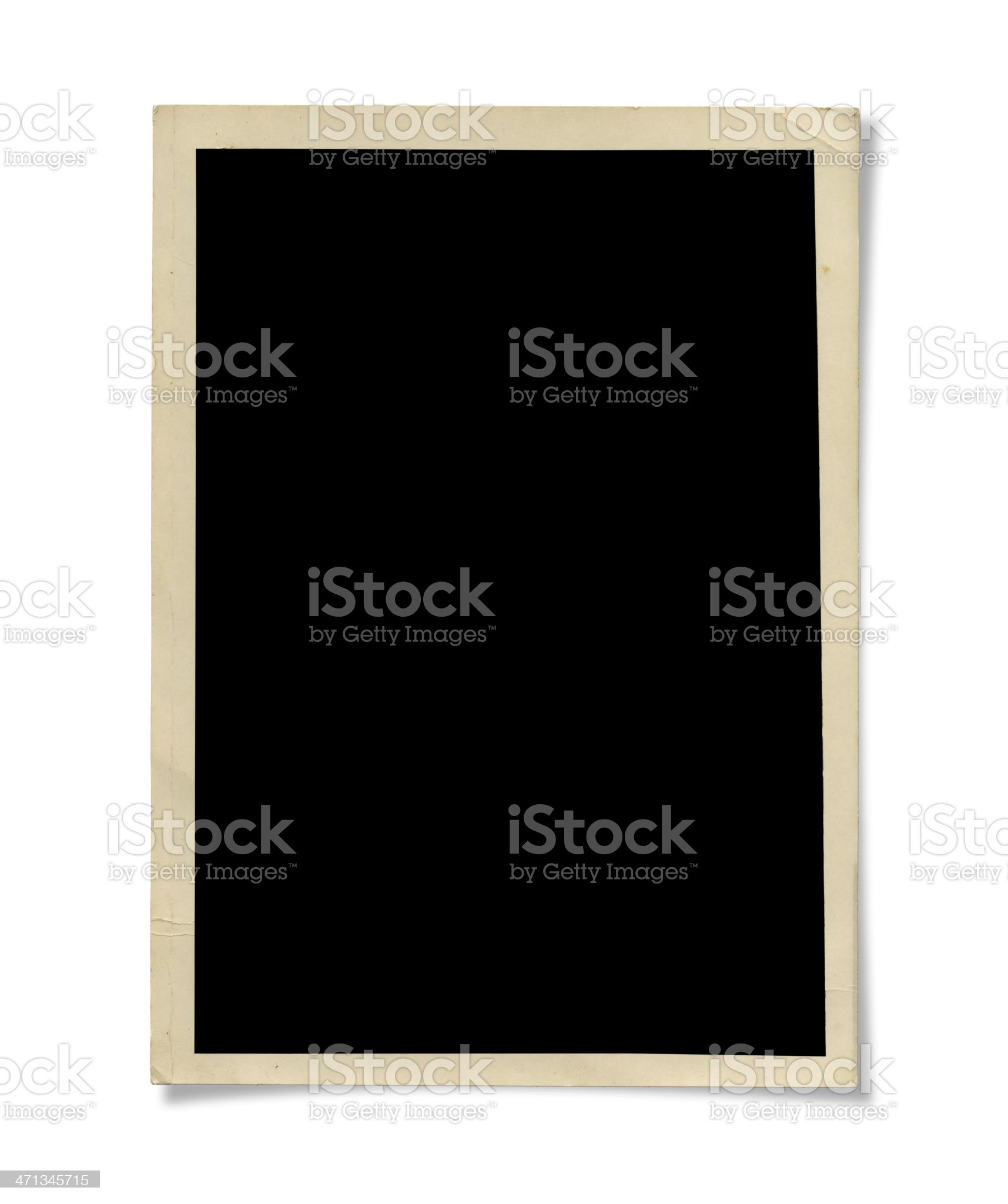 A blank chalkboard on a white background royalty-free stock photo