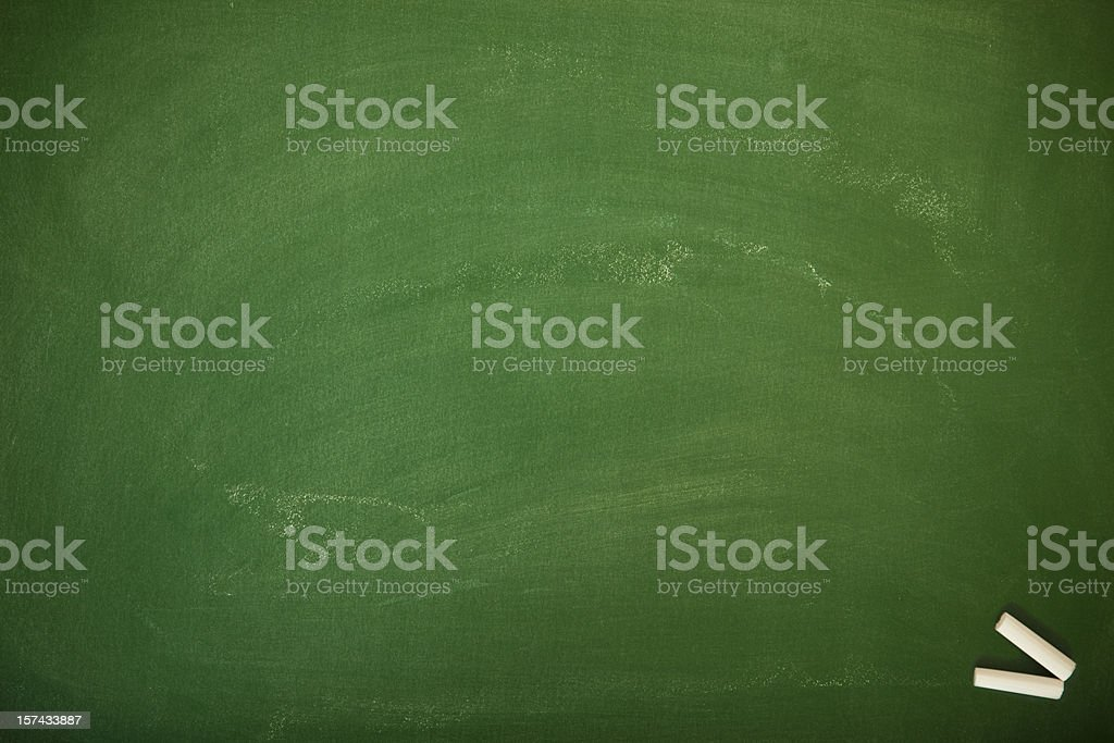 Blank chalkboard royalty-free stock photo