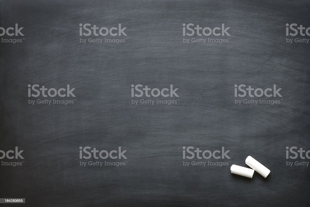 Blank chalkboard. royalty-free stock photo