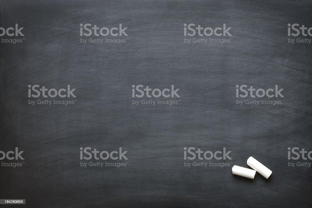 Blank chalkboard. stock photo