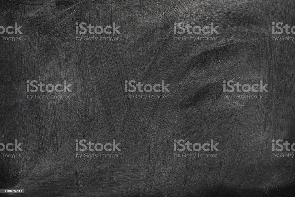 A blank chalkboard with eraser trails royalty-free stock photo