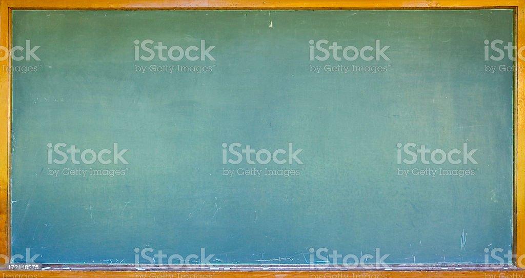 Blank chalkboard/blackboard with wooden frame stock photo