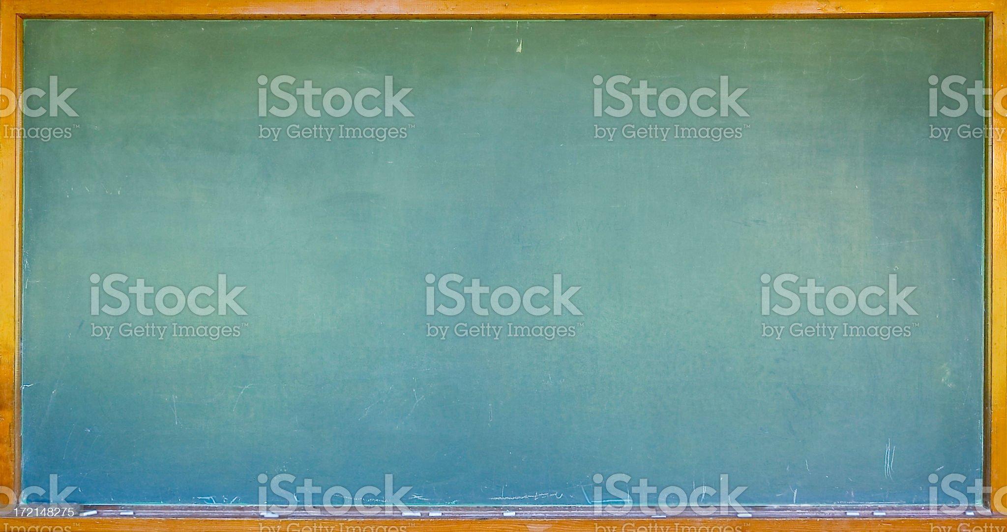 Blank chalkboard/blackboard with wooden frame royalty-free stock photo