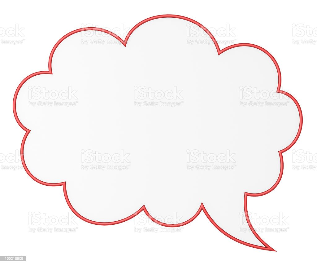Blank chat bubble stock photo