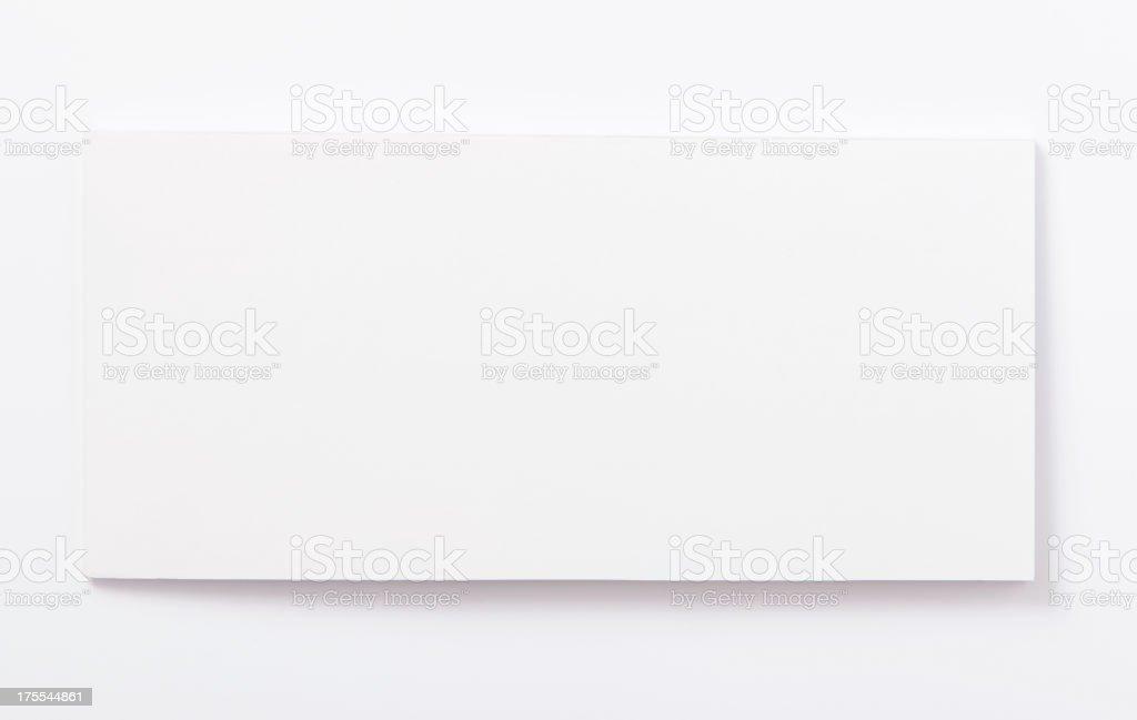 Blank check book stock photo