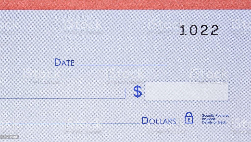 Blank Check royalty-free stock photo