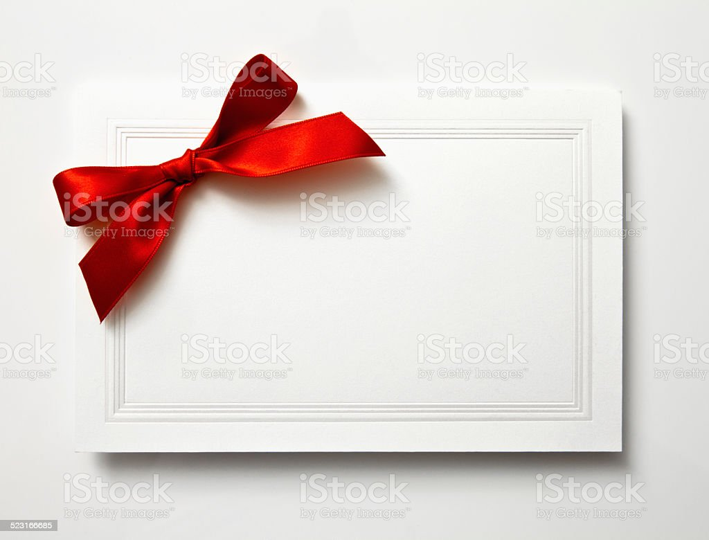 Blank Christmas Card stock photo