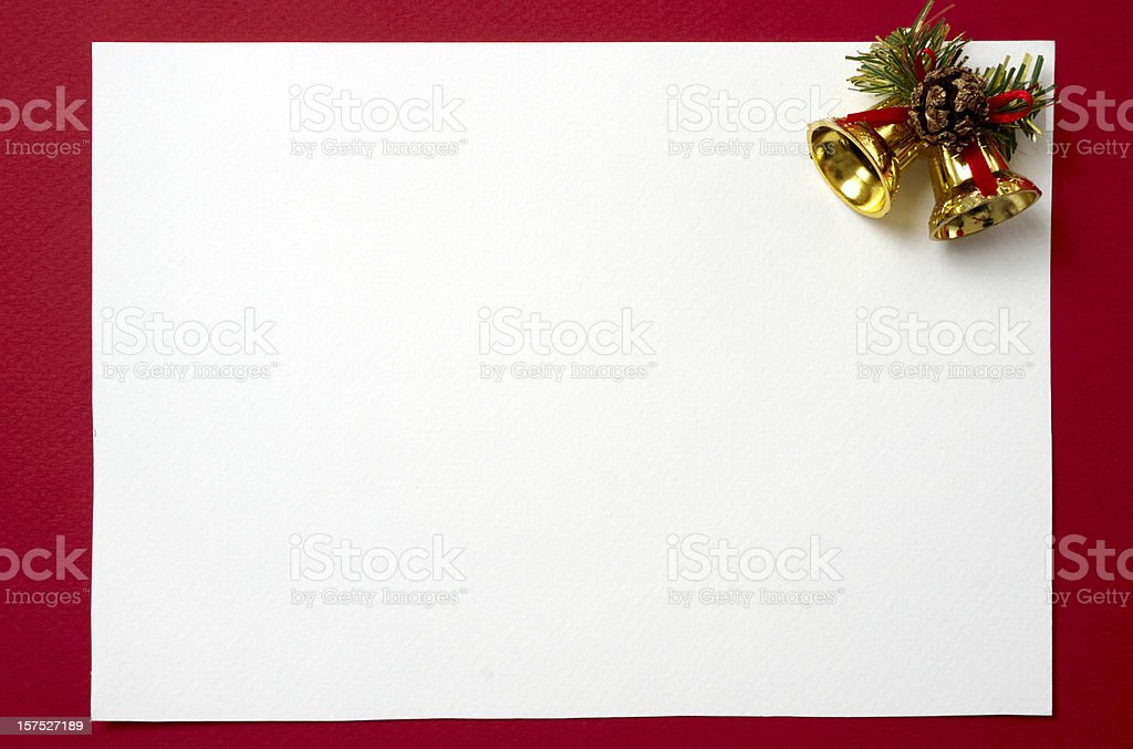 Blank Christmas card to decorate royalty-free stock photo