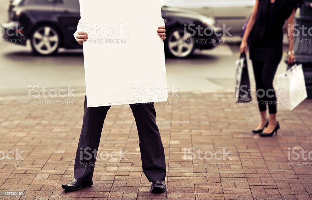 blank city signs stock photo
