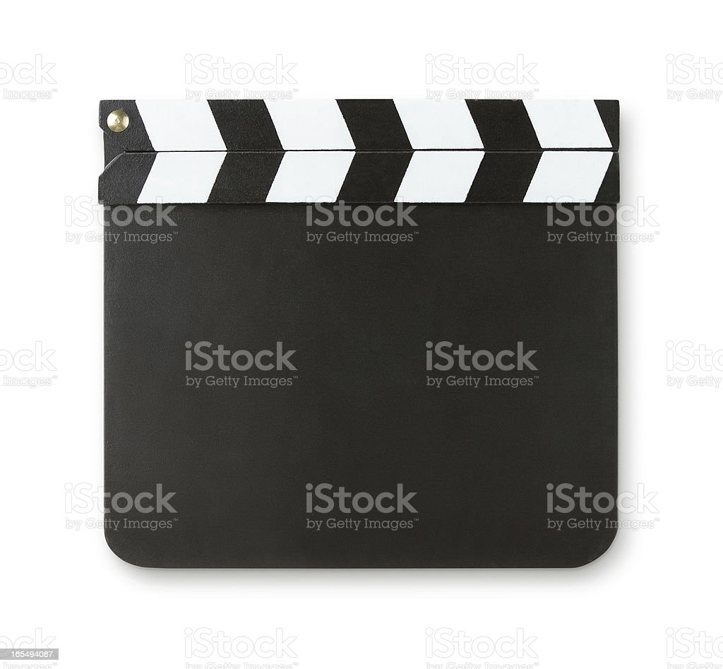 Blank clapboard with clipping path stock photo