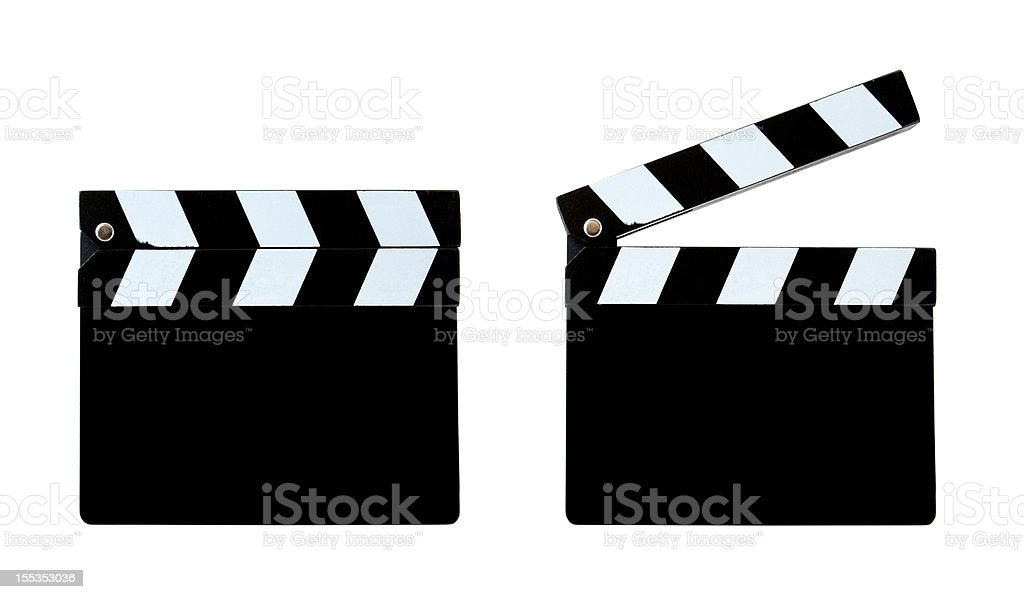 Blank clapper board (Clipping Path!) isolated on white background royalty-free stock photo