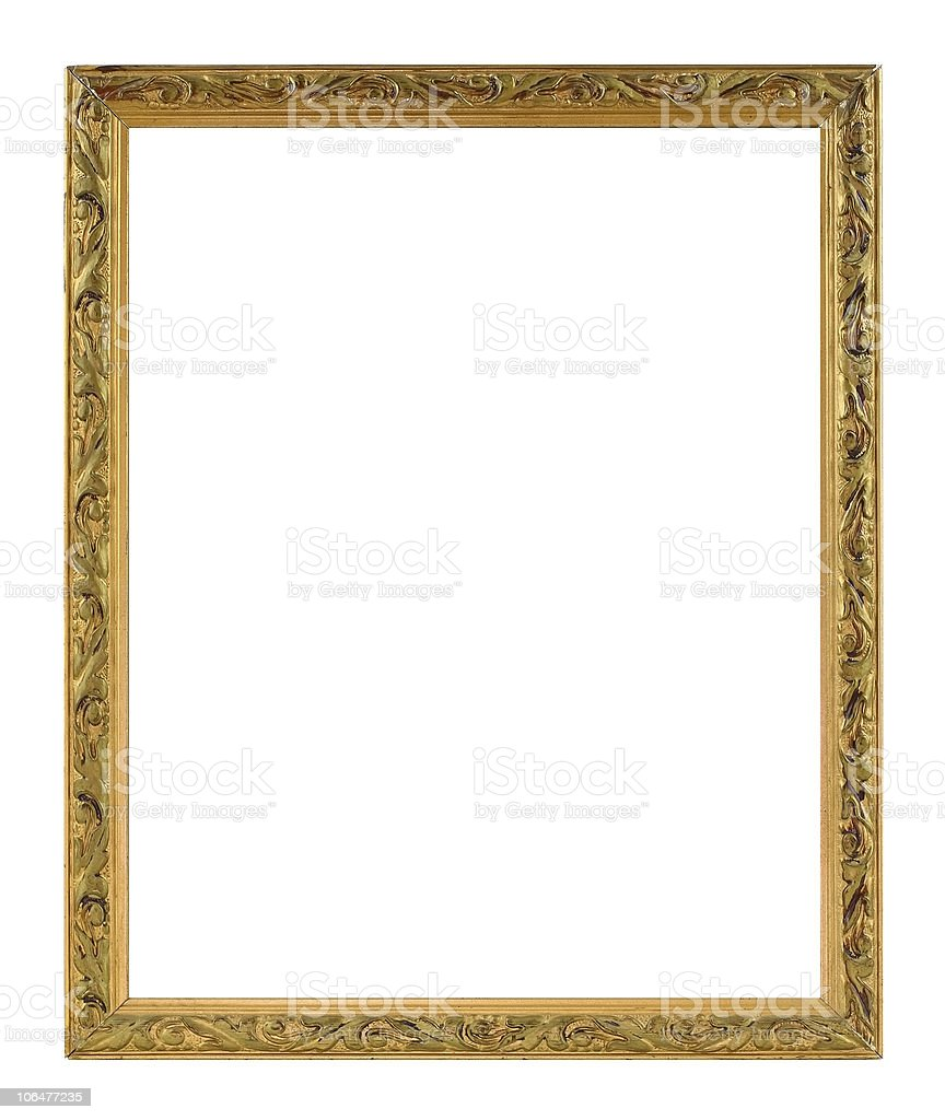 Blank classical frame stock photo
