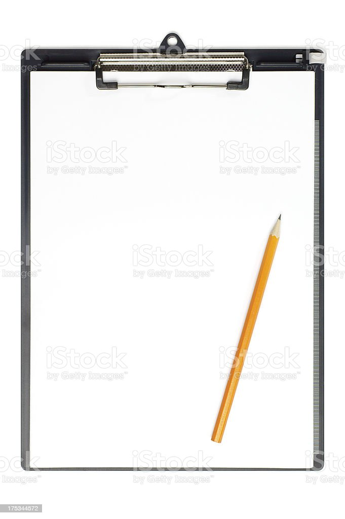 Blank Clipboard and Pencil royalty-free stock photo