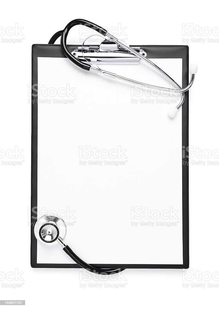 Blank clipboard isolated with clipping path stock photo