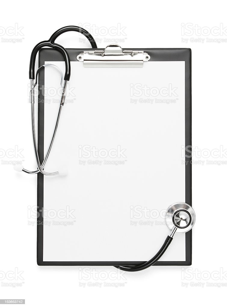 Blank clipboard with clipping path stock photo