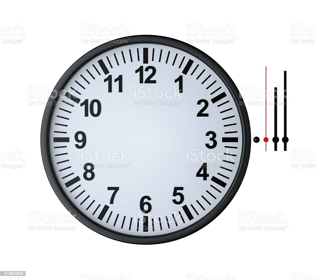blank clock face stock photo