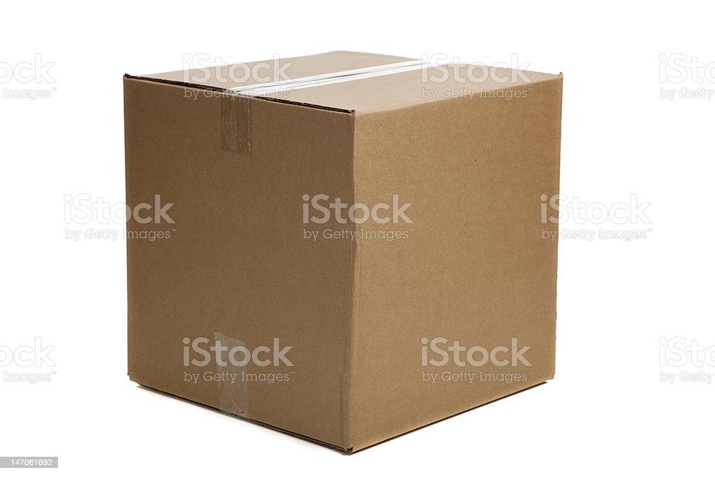 Blank Closed Cardboard Box stock photo
