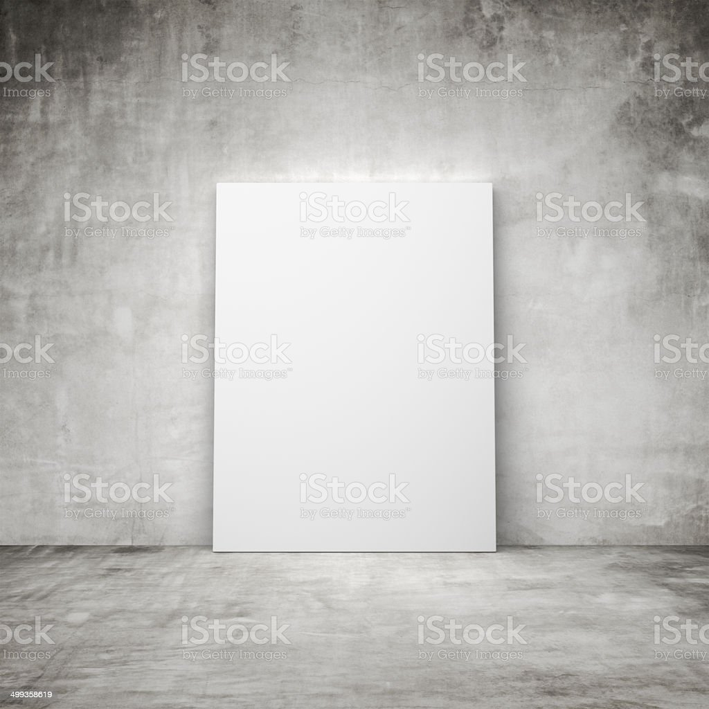 blank placard stock photo