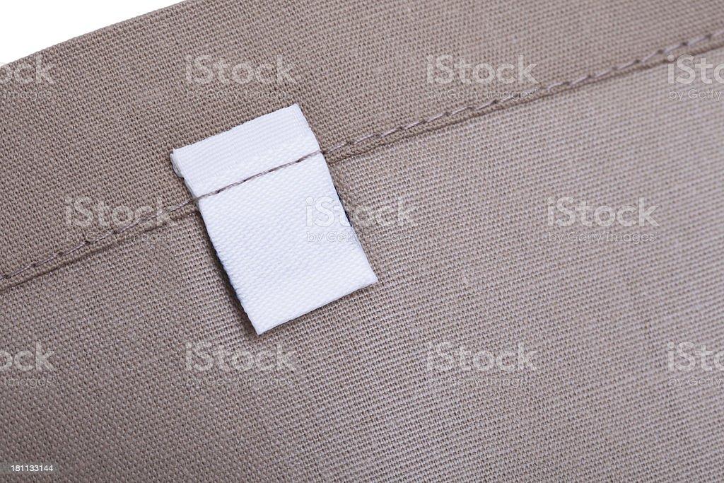 Blank Clothing Label royalty-free stock photo