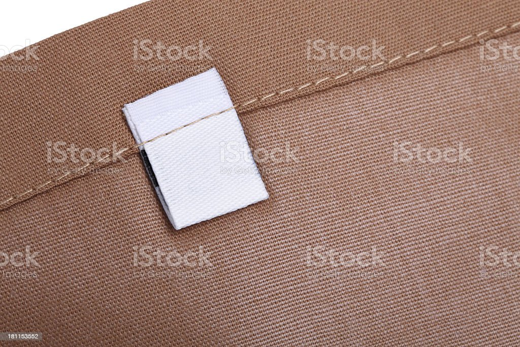Blank Clothing Label royalty-free stock photo