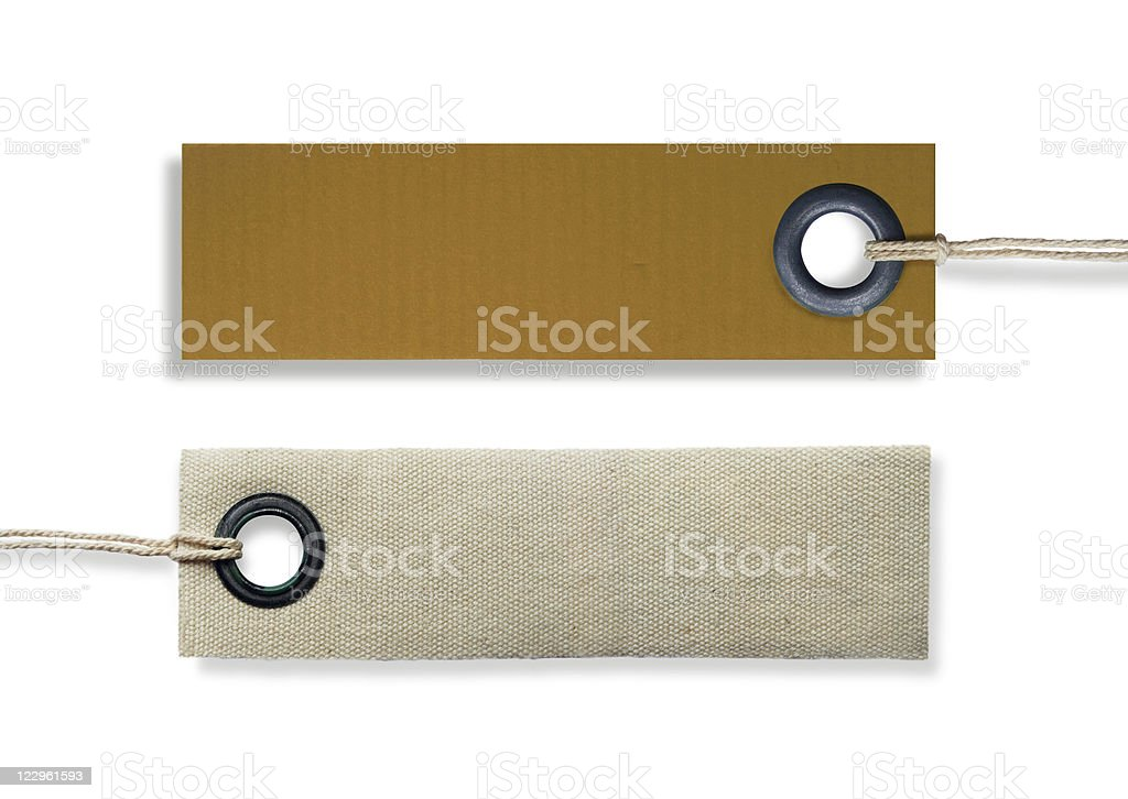 blank clothing labels stock photo