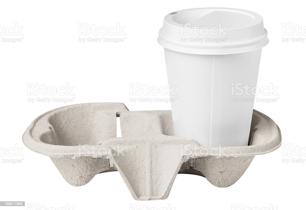 Blank coffee cup in tray royalty-free stock photo