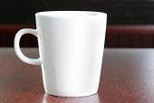 Blank coffee cup on table - horizontal