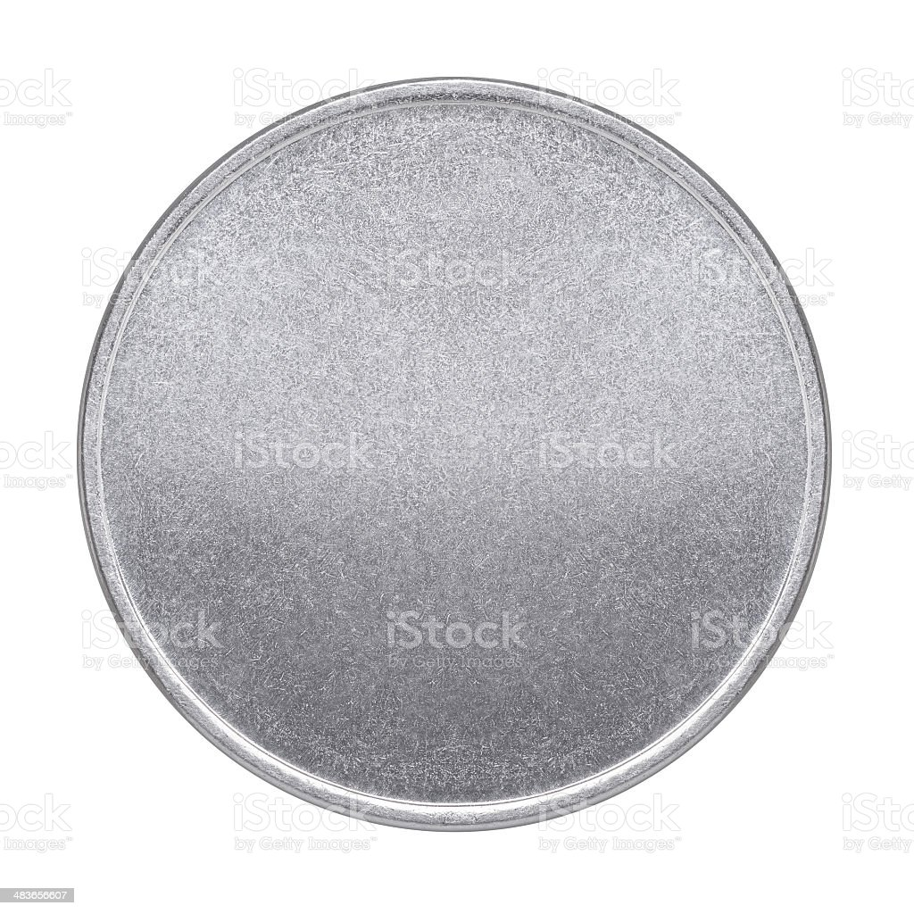 Blank coin or medal stock photo