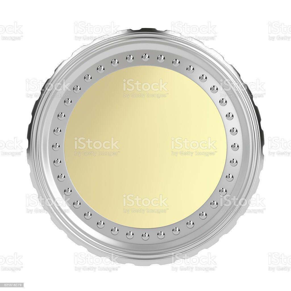 Blank coin stock photo