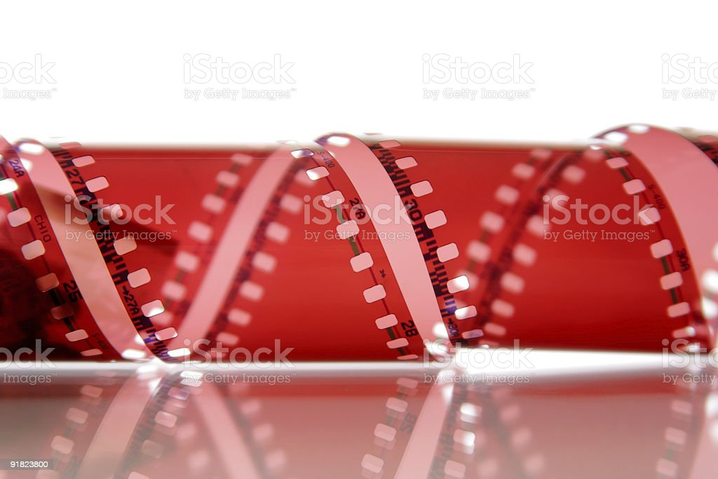 Blank color negative 36mm photofilm royalty-free stock photo