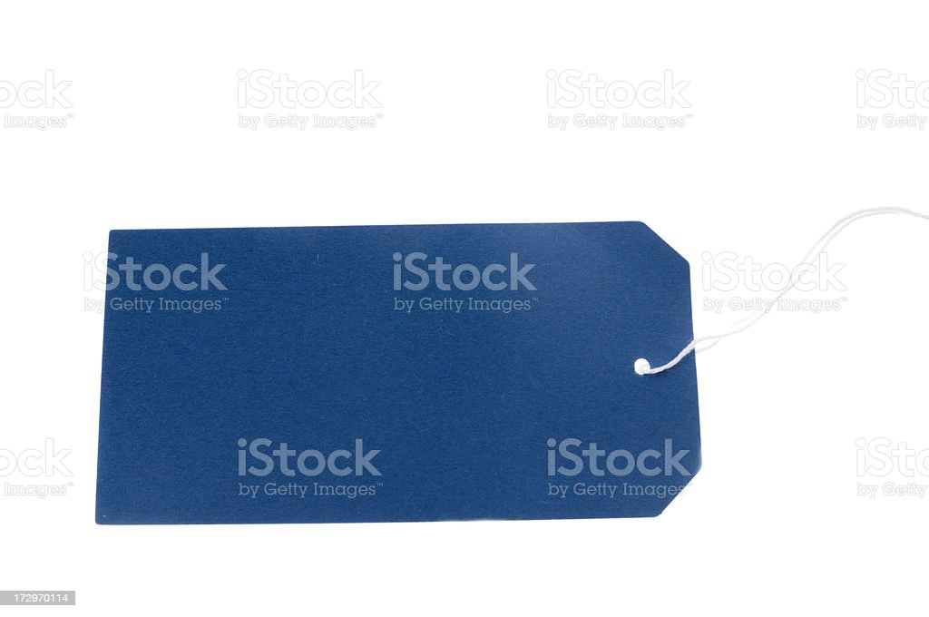 blank colored cardboard tag royalty-free stock photo