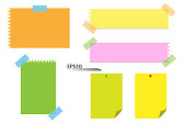 Blank colored paper vector