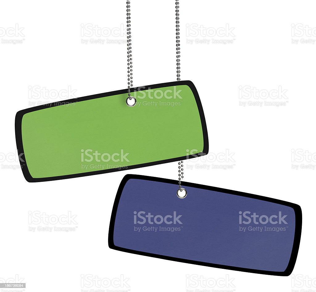 Blank Colorful Tag (Clipping Path) royalty-free stock photo
