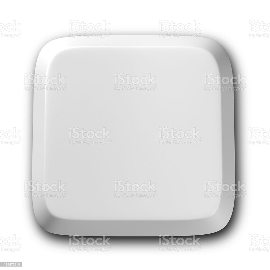 Blank Computer keyboard button stock photo