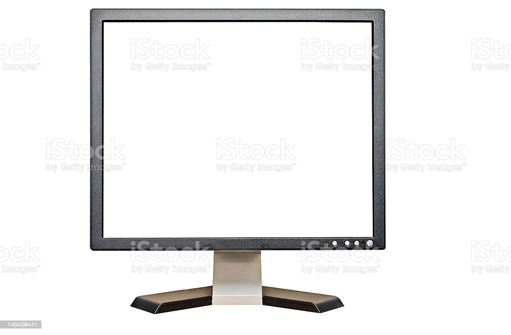 Blank Computer Screen, Clipping Path stock photo