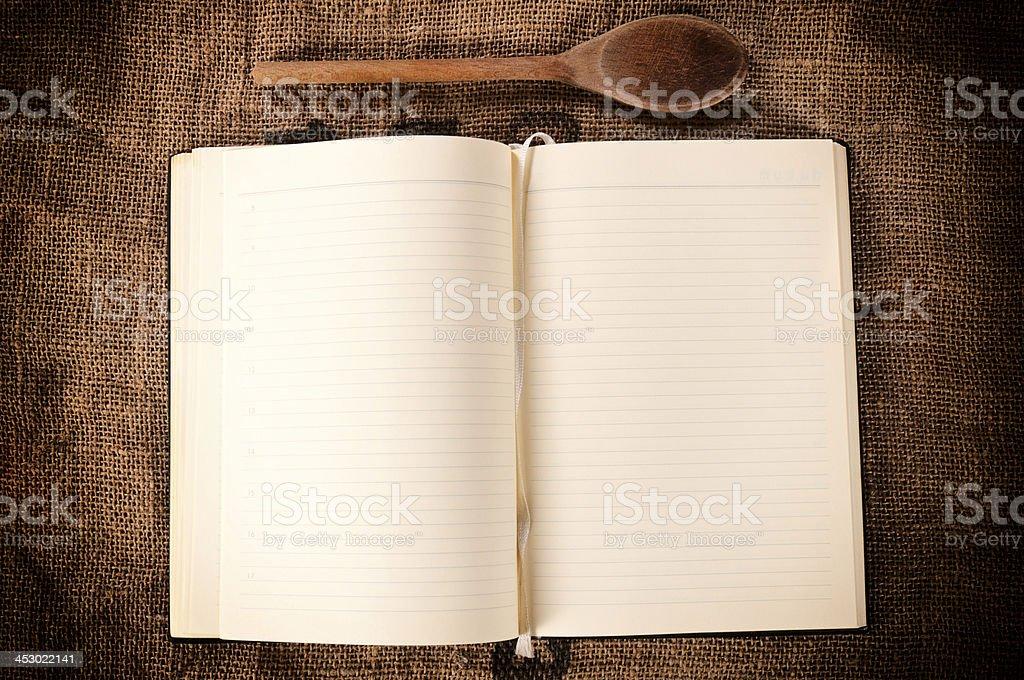 Blank cookbook stock photo