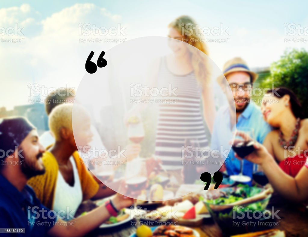 Blank Copy Space Holiday Quotation Mark Summer Concept stock photo