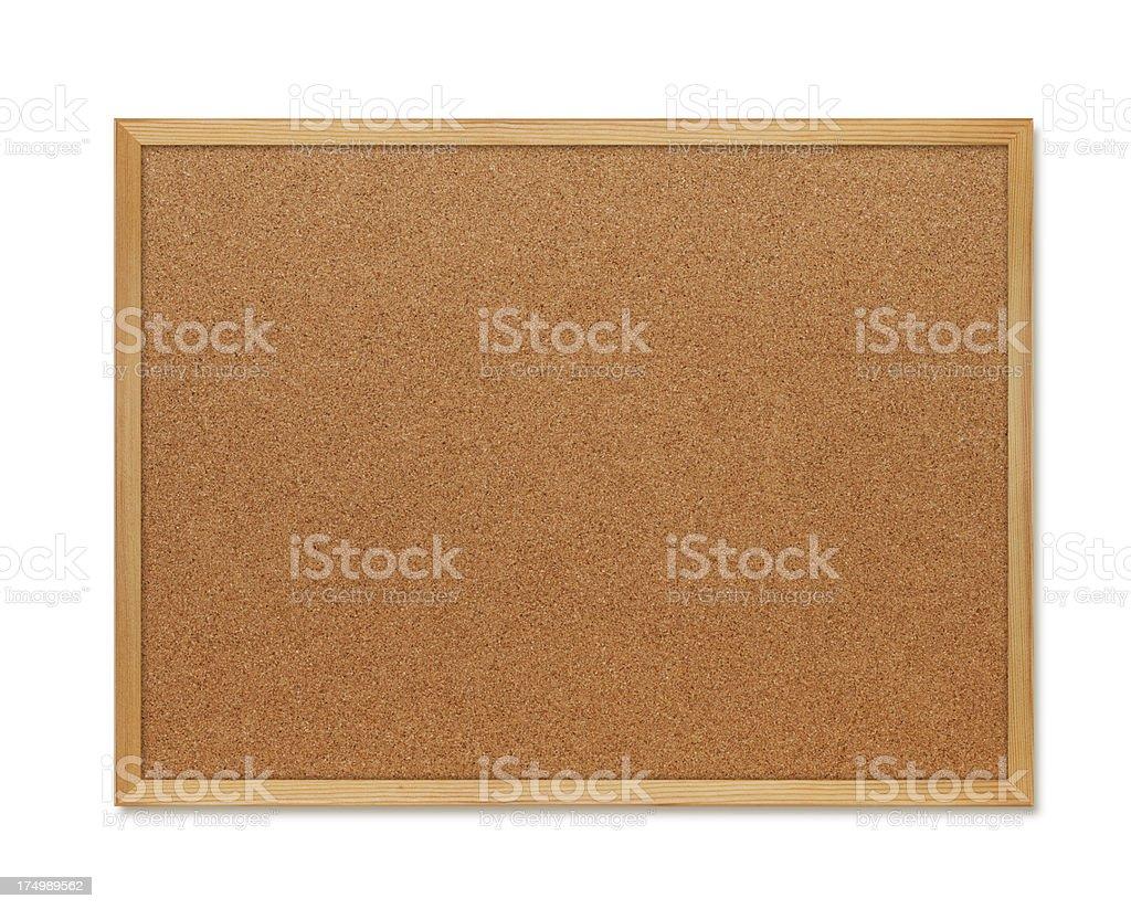 Blank cork board royalty-free stock photo