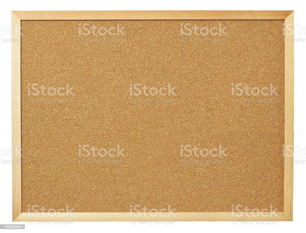 Blank cork board. stock photo