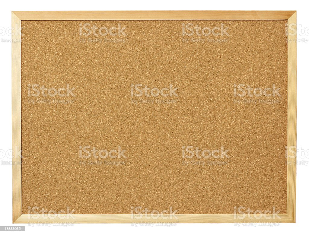 Blank cork board. stock photo
