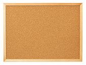 Blank cork board.