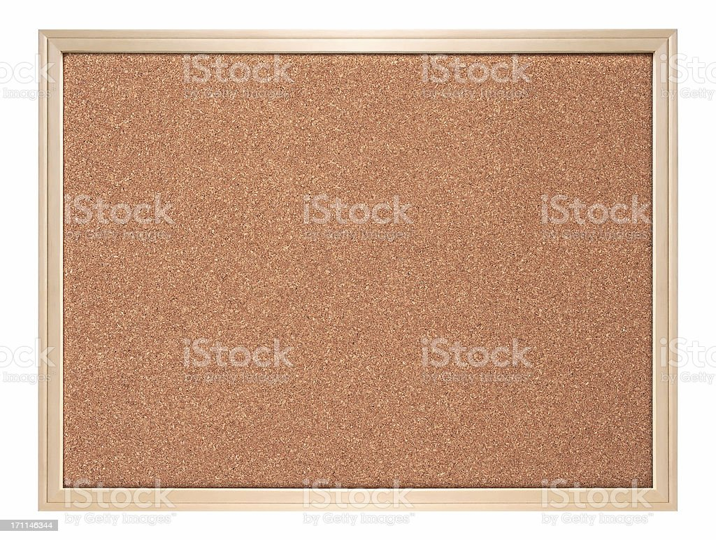 Blank corkboard ( isolated ) royalty-free stock photo