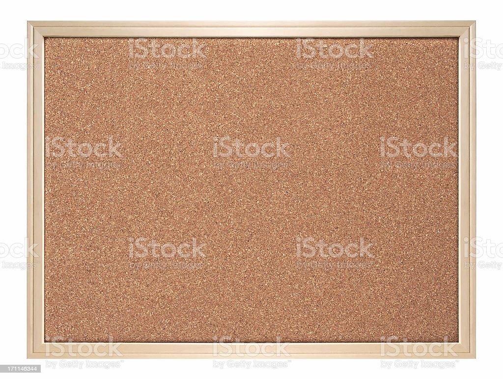 Blank corkboard ( isolated ) royalty-free stock photo