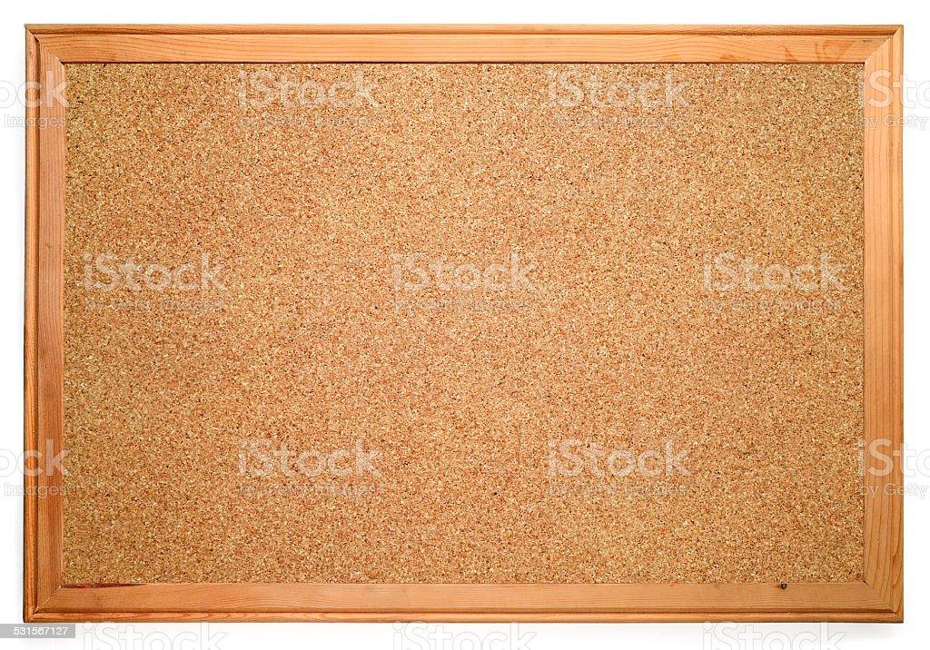 Blank corkboard stock photo