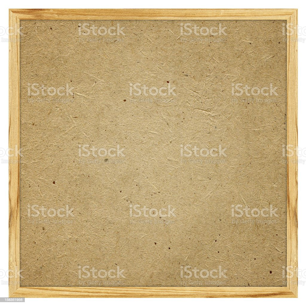 Blank Corkboard textured (Clipping path) isolated on white background royalty-free stock photo