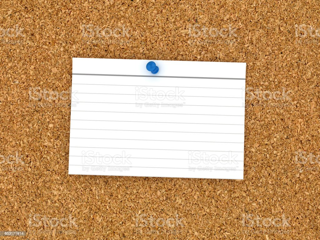 Blank Corkboard with Note Page stock photo
