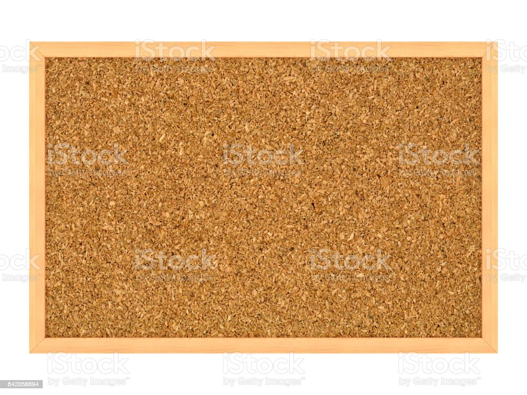 Blank Corkboard with Wood Frame stock photo